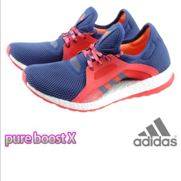 78feb8d415744 Adidas Pure Boost X Women s Red Pink Blue